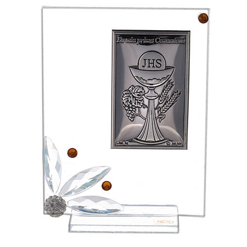Cuadrito vidrio placa primera Comunión 1