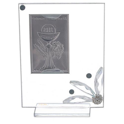 Quadretto vetro placca prima Comunione 3