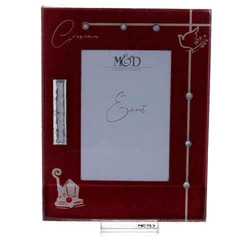 Portarretrato Confirmación marco rojo símbolos 1