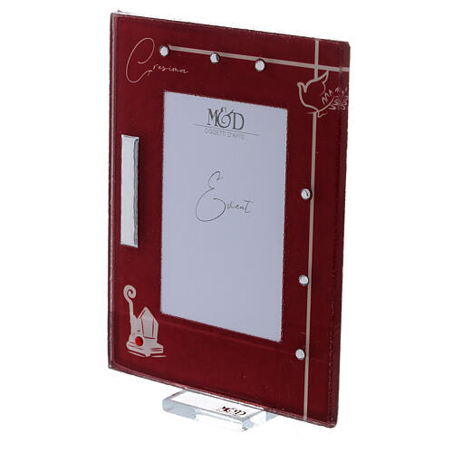 Picture frame Confirmation red frame with rhinestones 2