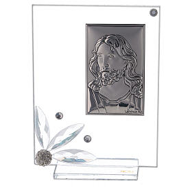Glass picture with face of Christ s1