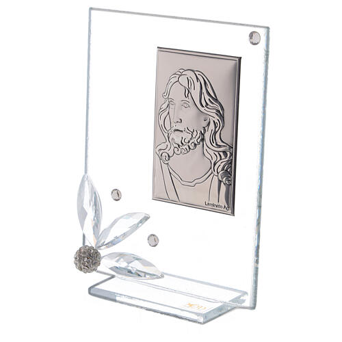 Glass picture with face of Christ 2
