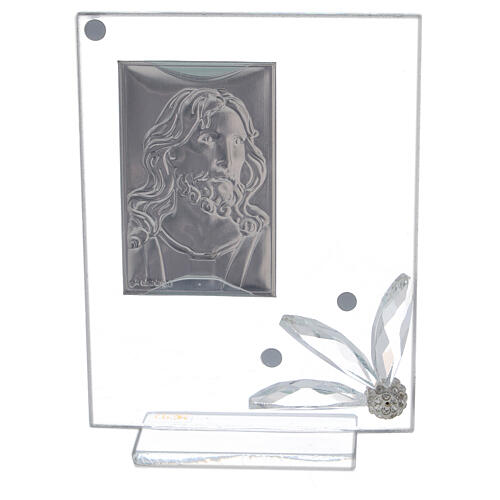 Glass picture with face of Christ 3