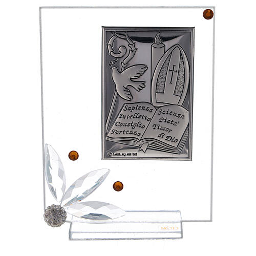 Cuadrito vidrio placa símbolos Confirmación 1