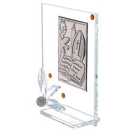 Quadretto vetro placca simboli Cresima s2