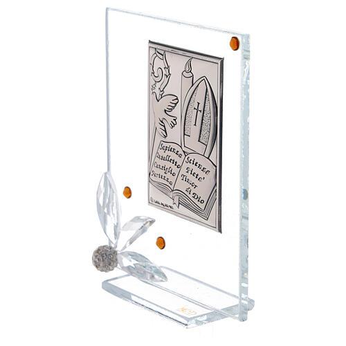 Quadretto vetro placca simboli Cresima 2