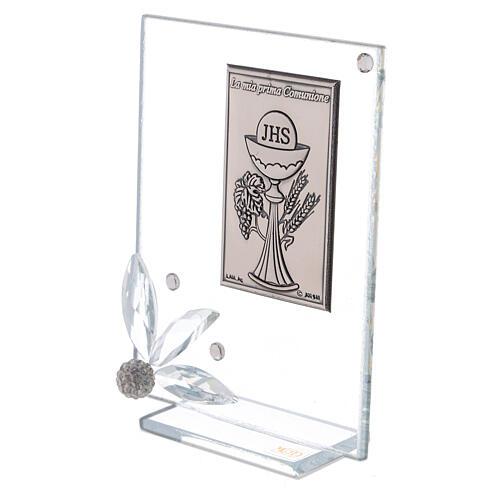 Cuadrito vidrio recuerdo Primera Comunión 2