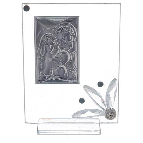 Quadretto vetro con Sacra Famiglia bomboniera 3