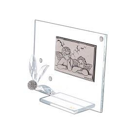 Recuerdo cuadrito vidrio ángeles s2