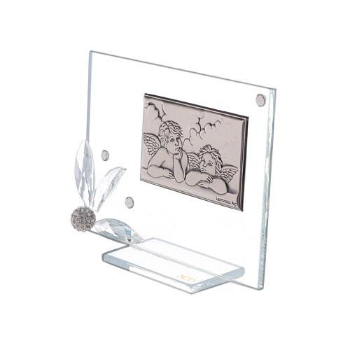 Recuerdo cuadrito vidrio ángeles 2