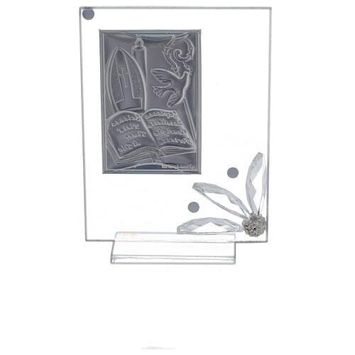 Cuadrito recuerdo placa símbolos Confirmación 3