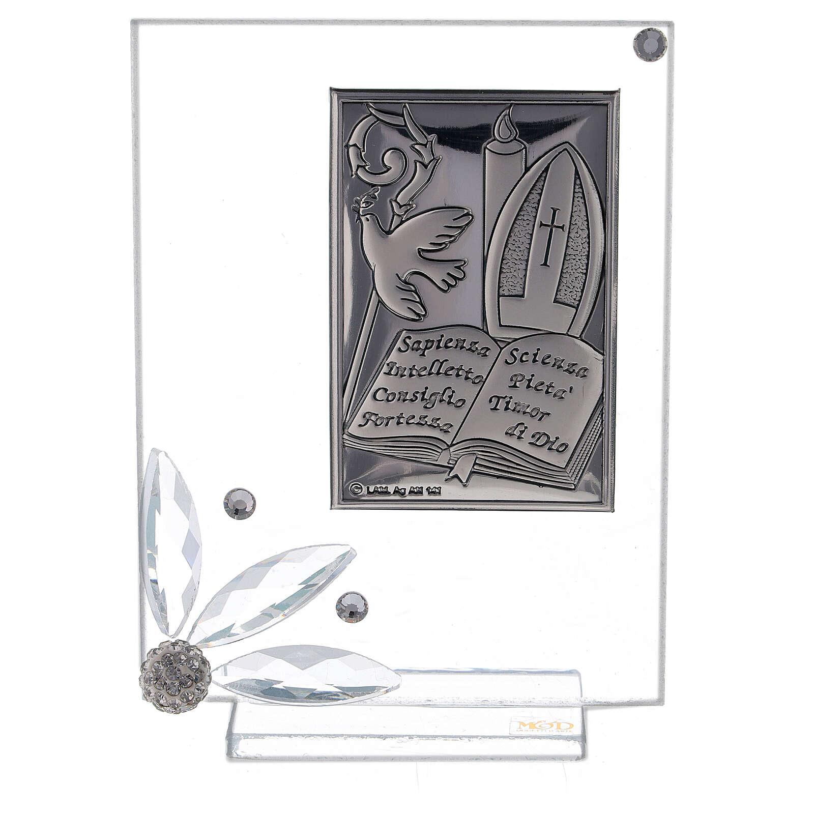 Cadre souvenir plaque symboles Confirmation 3