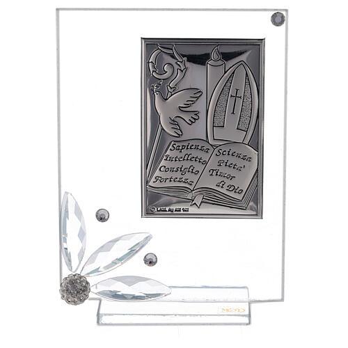 Cadre souvenir plaque symboles Confirmation 1