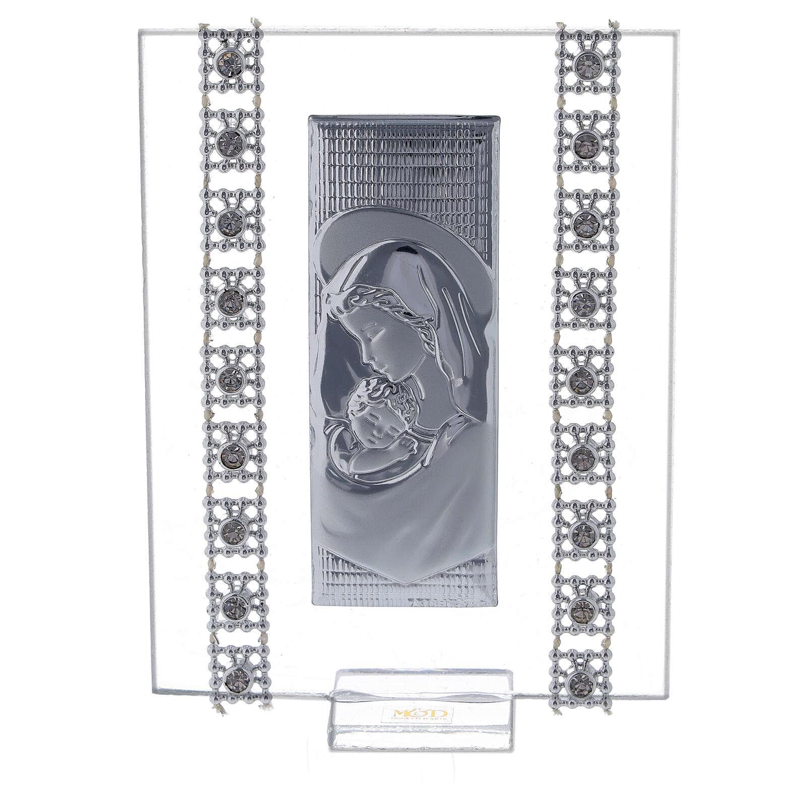 Bomboniera quadretto maternità con strass 3