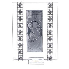 Bomboniera quadretto maternità con strass s1