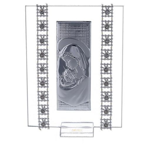 Bomboniera quadretto maternità con strass 1