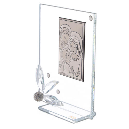 Cuadrito recuerdo Sagrada Familia vidrio 2