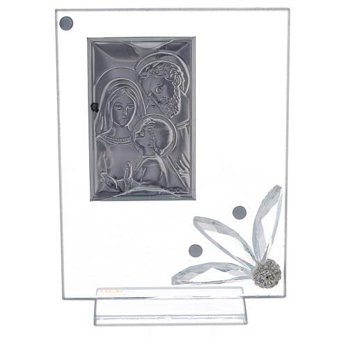 Cuadrito recuerdo Sagrada Familia vidrio 3