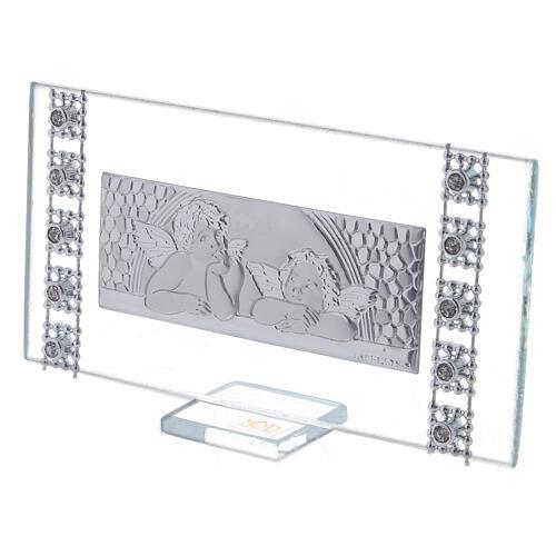 Lembrancinha quadro rectangular batismo 2