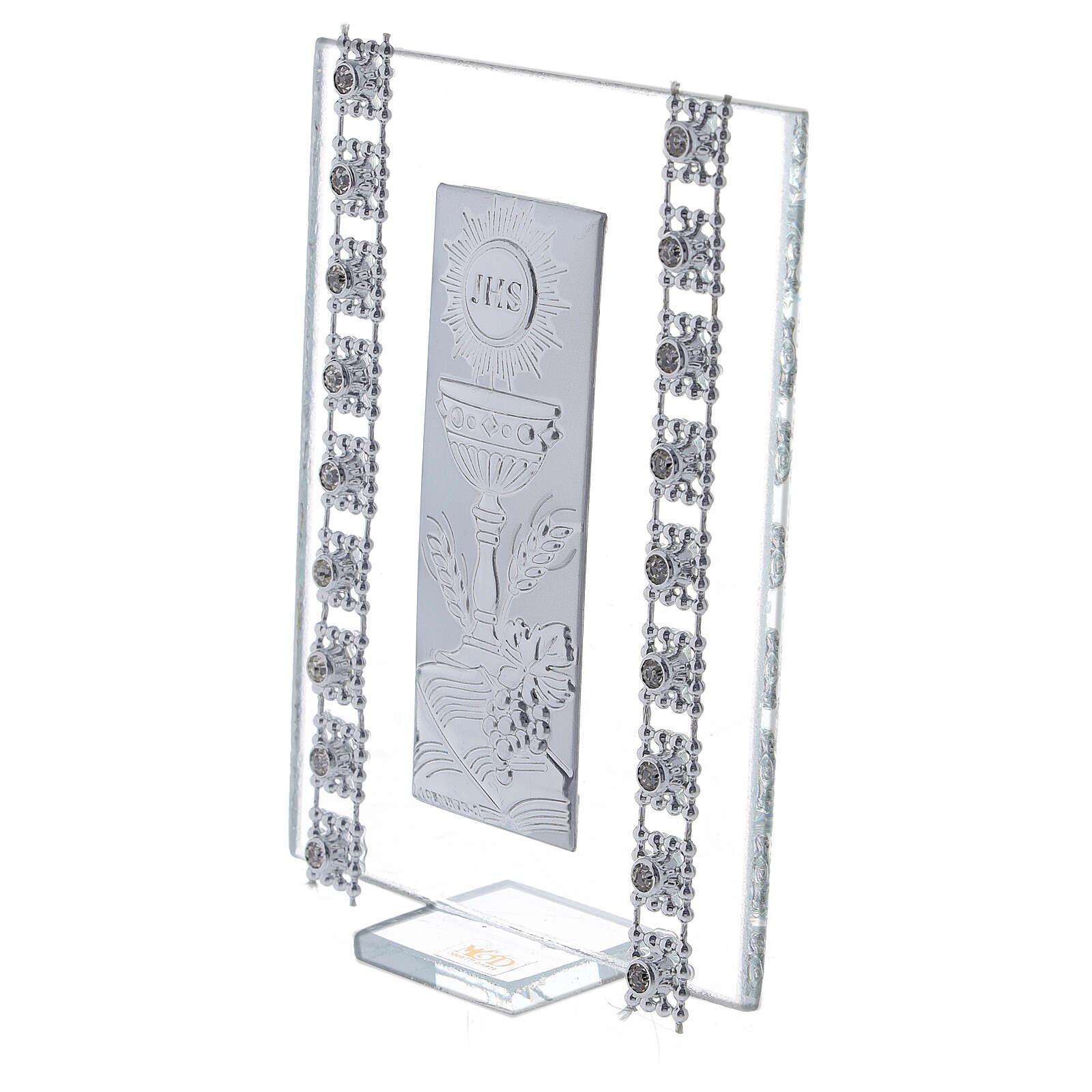 Recuerdo cuentas strass y símbolos Comunión vidrio 3