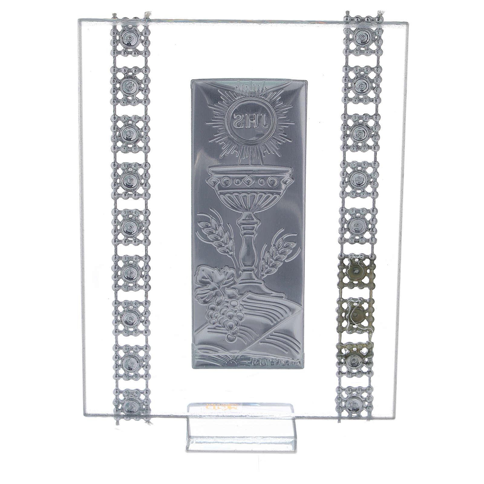 Souvenir strass et symboles Communion verre 3