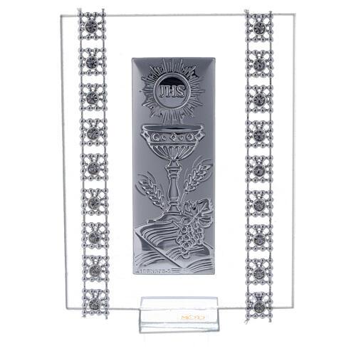 Souvenir strass et symboles Communion verre 1