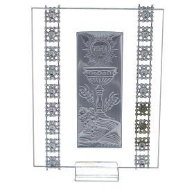 Bomboniera strass e simboli Comunione vetro s3