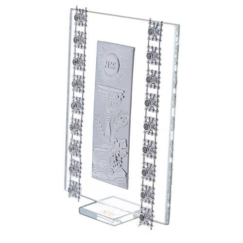 Bomboniera strass e simboli Comunione vetro 2