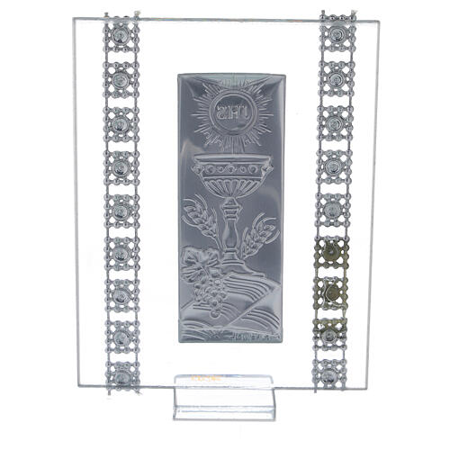 Bomboniera strass e simboli Comunione vetro 3