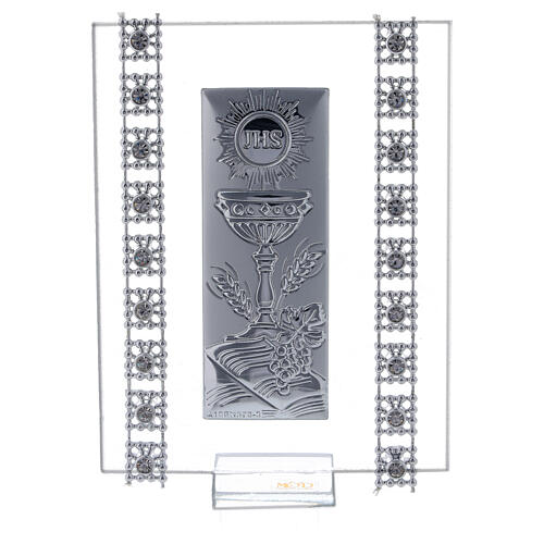 Favor strass and Holy Communion symbols glass 1