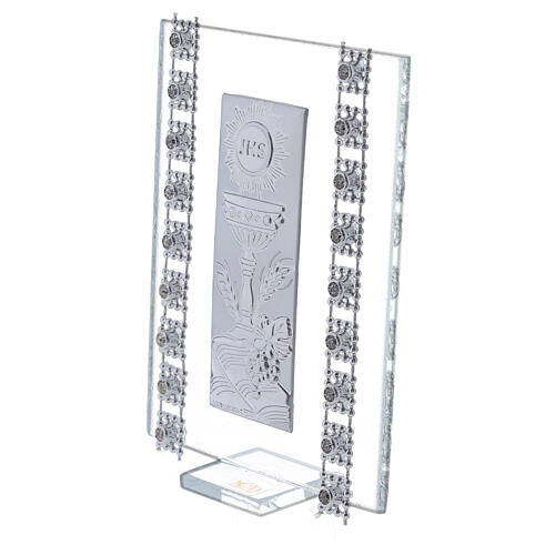 Favor strass and Holy Communion symbols glass 2