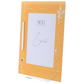 Portafoto vetro cornice gialla Comunione s2