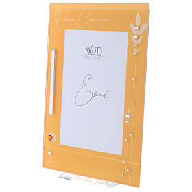 Picture frame glass yellow frame for Holy Communion s2
