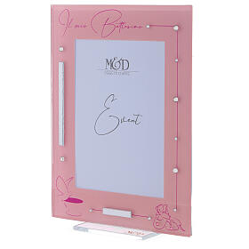 Picture frame girl's Baptism glass s2