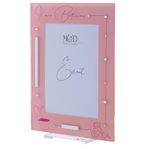 Picture frame girl's Baptism glass 2
