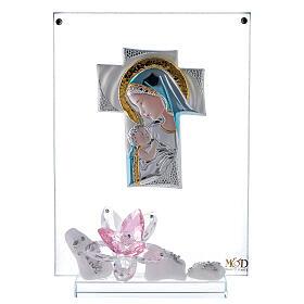 Cuadro placa maternidad flor rosa s1