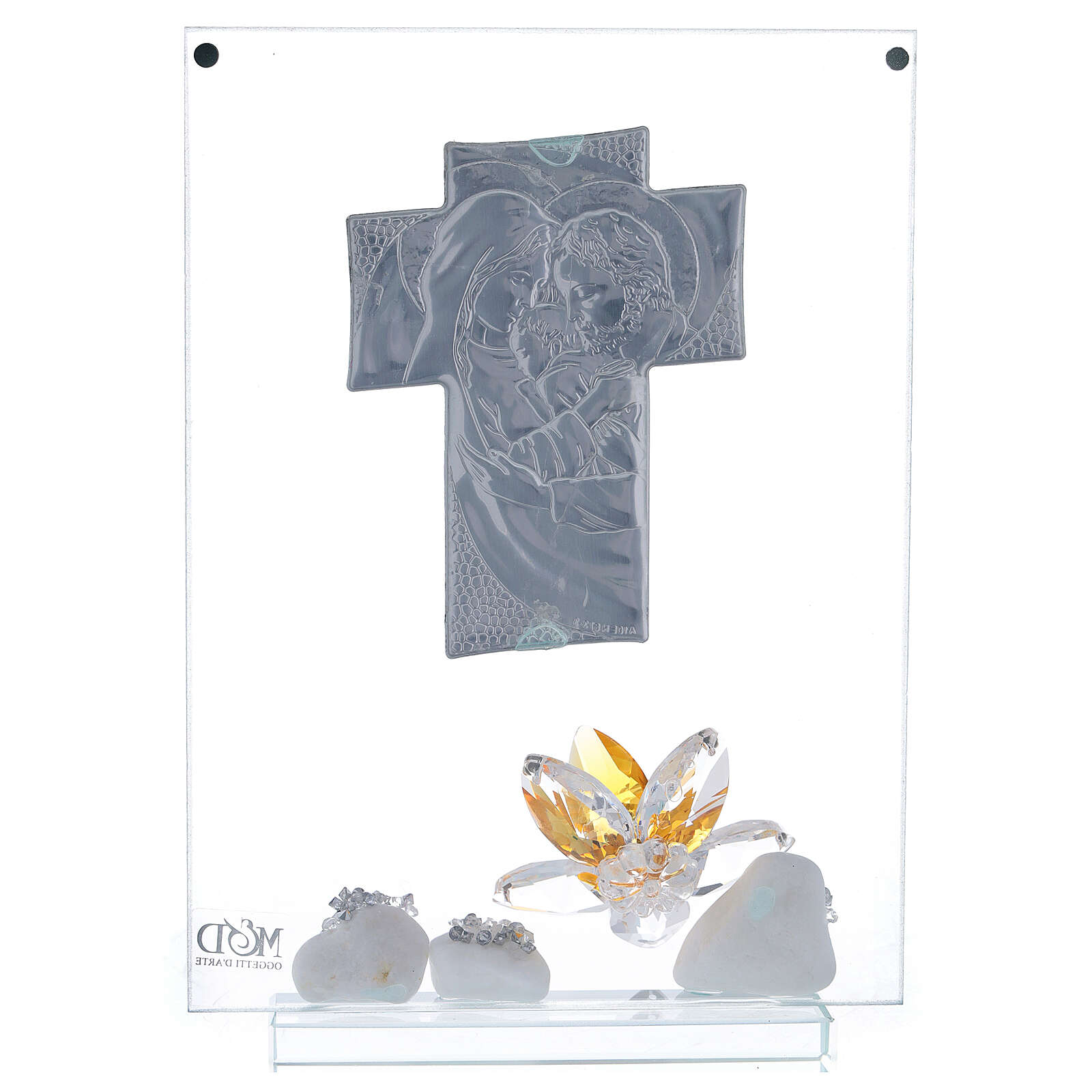 Cuadro Sagrada Familia con flor ámbar 3