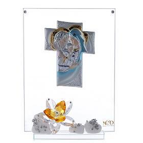 Cuadro Sagrada Familia con flor ámbar s1
