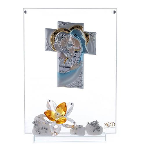 Quadro Sacra Famiglia con fiore ambra 1