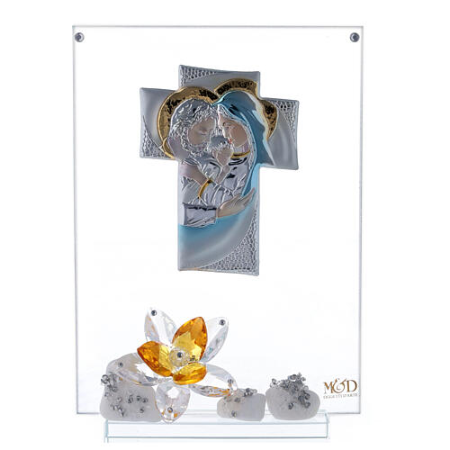 Picture Holy Family with amber flower 1