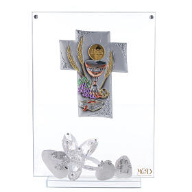 Quadro vetro placca a croce Comunione s1