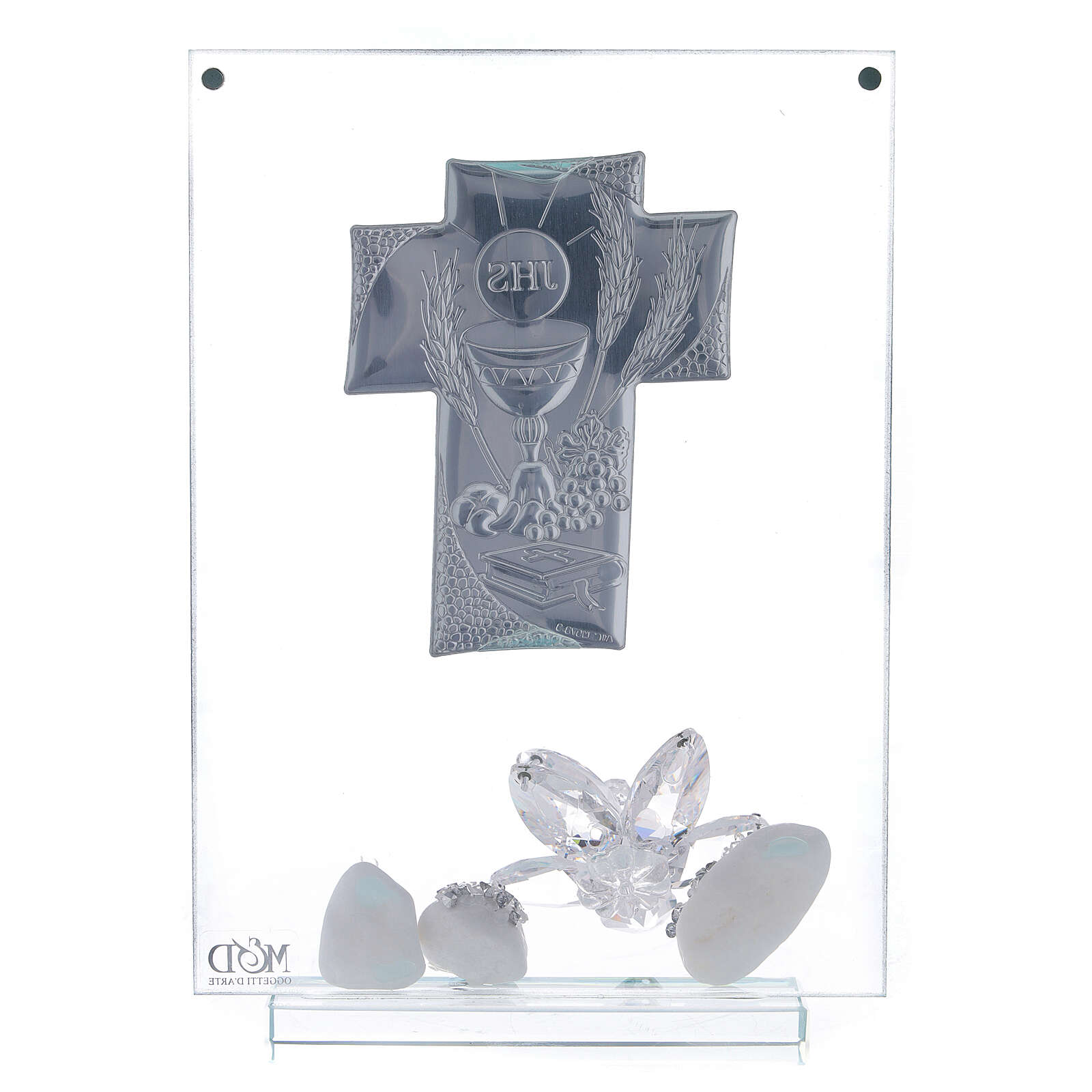 Glass picture cross shaped panel Holy Communion 3