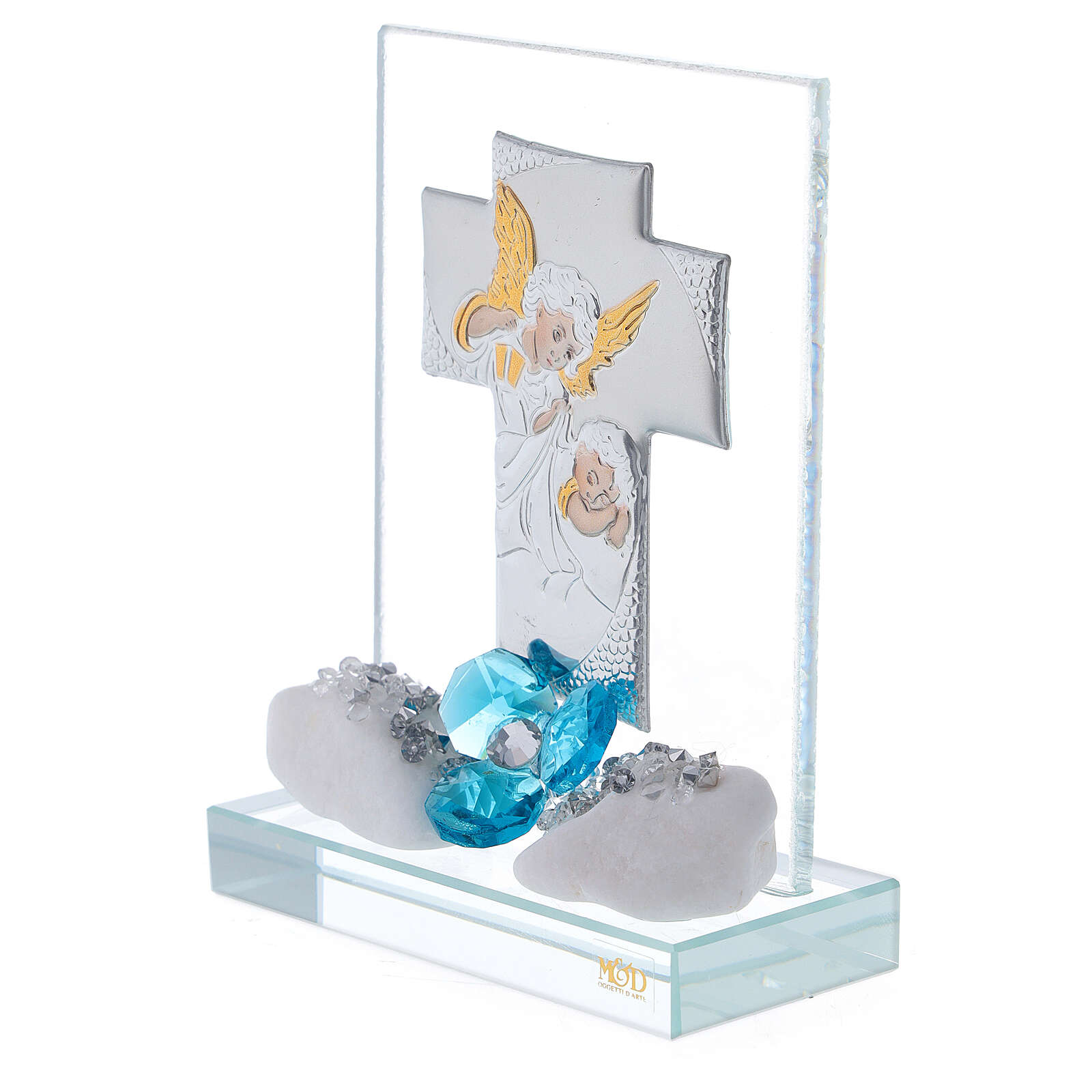 Souvenir Baptême garçon plaque croix 3