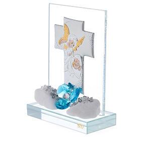 Souvenir Baptême garçon plaque croix s2