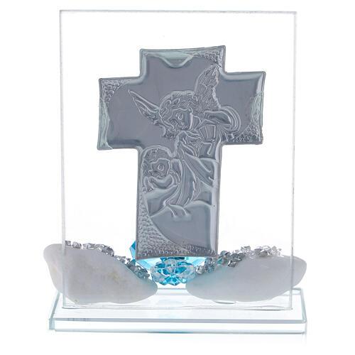 Bomboniera Battesimo bimbo placca croce  3