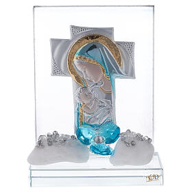 Cuadrito incisión maternidad flor azul s1