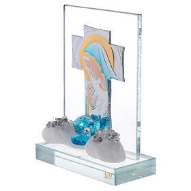 Cadre gravure maternité fleur bleue s2