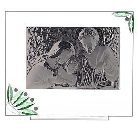 Quadro Sacra Famiglia fiori verdi s1
