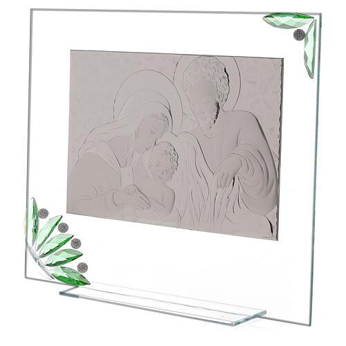 Quadro Sacra Famiglia fiori verdi 2