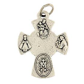Ciondolo croce metallo simboli Cresima s2